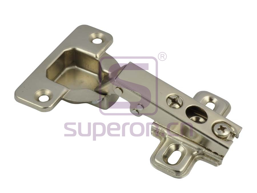 Concealed hinge, slide-on