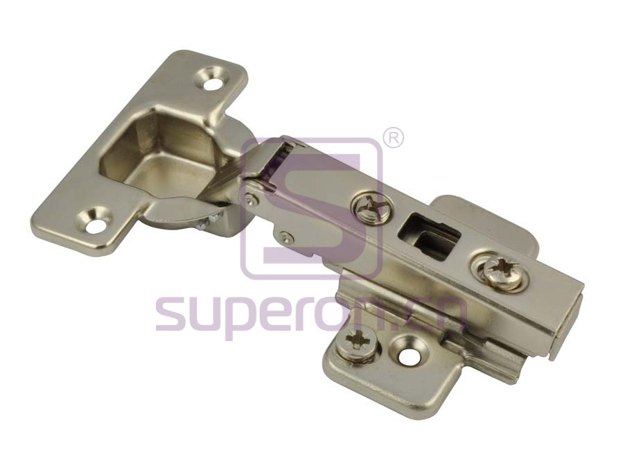 Concealed hinge clip-on, adjustable