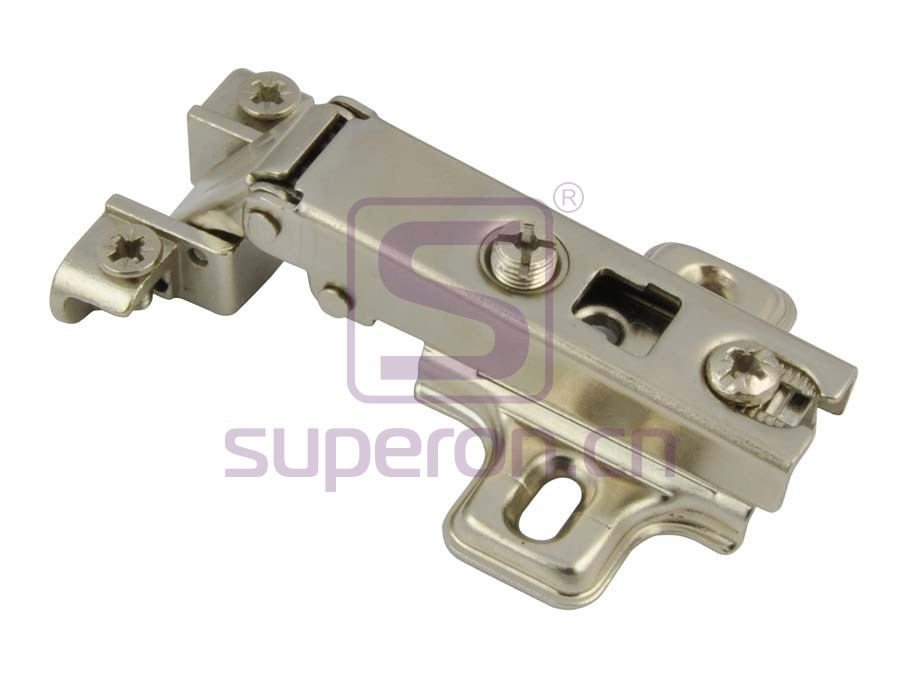 Hinge for aluminium, slide-on