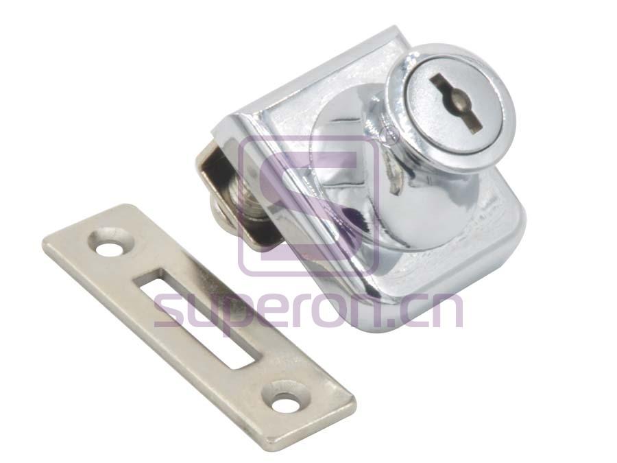 Cerradura de vidrio #407 con barril removible y llave maestra