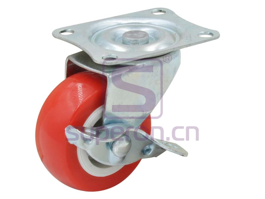 04-717 | Steel castor, w/ plate & brake