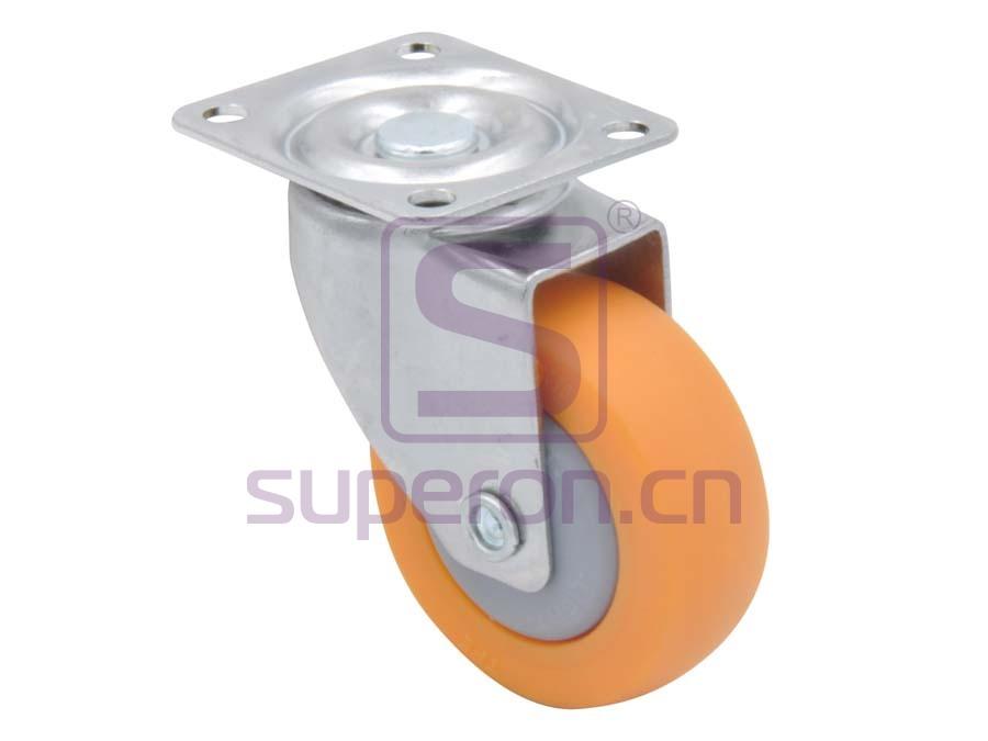 04-728 | Steel castor, w/ plate