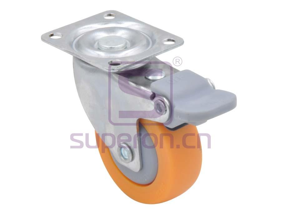 04-729 | Steel castor, w/ plate & brake