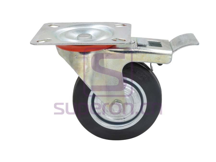 04-761 | Steel castor, w/ plate, with brake
