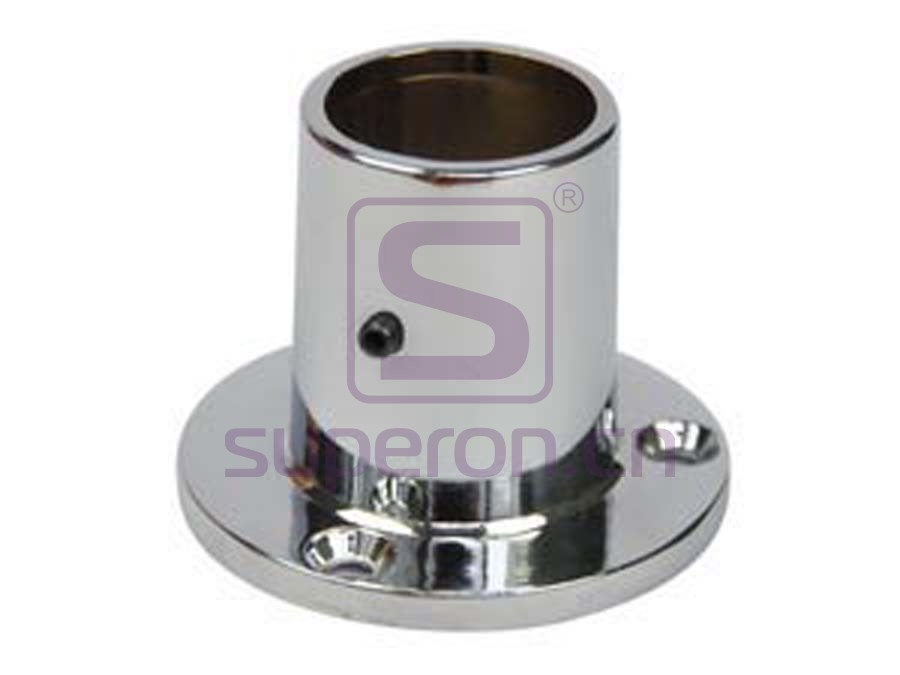 Flange with fix screw,