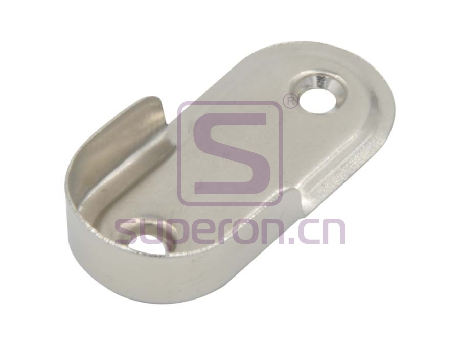 Tube oval flange, steel, D25mm
