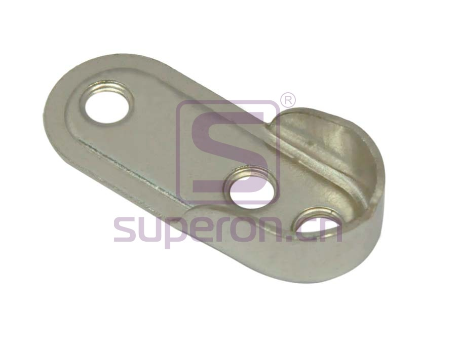 Tube flange, steel, 15x30mm