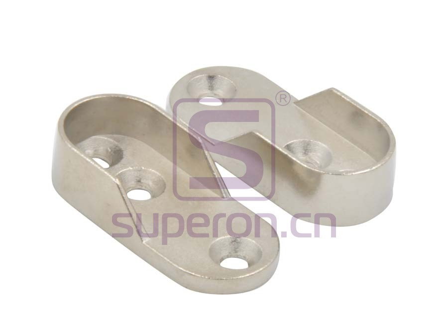 Tube flange, 15x30mm (3 holes)
