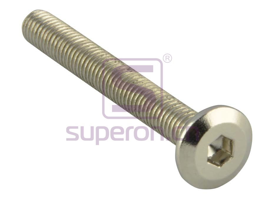 Bolt with flat hex head