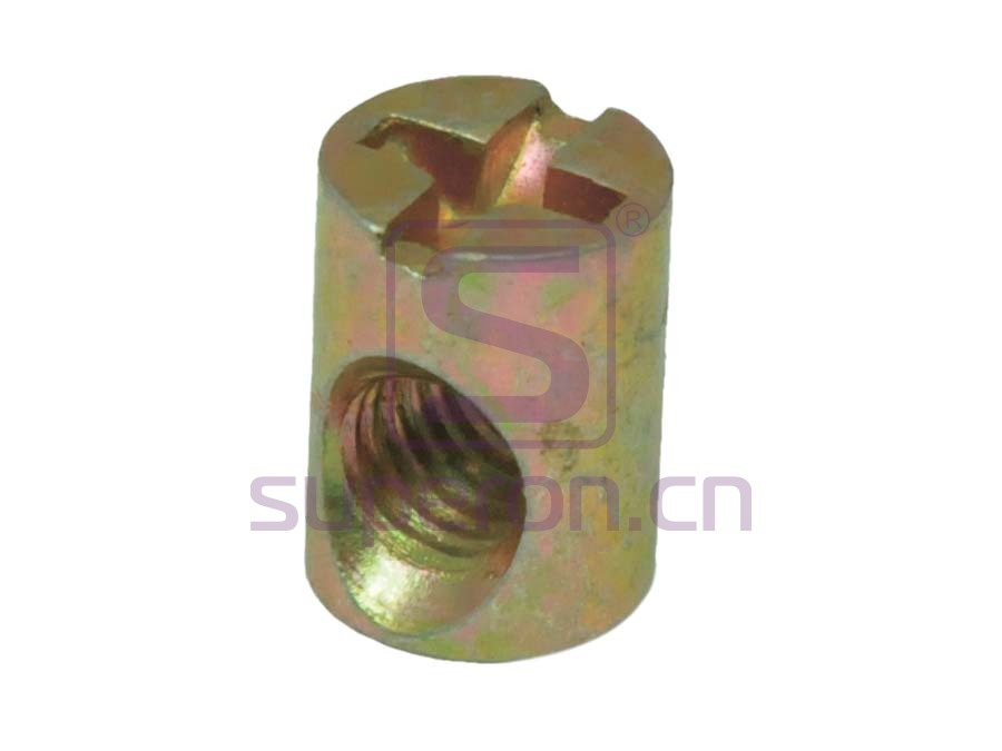 Barrel nut, cross, steel