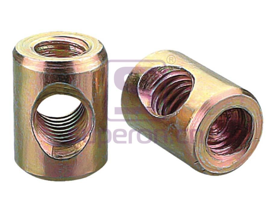 Barrel nut, steel