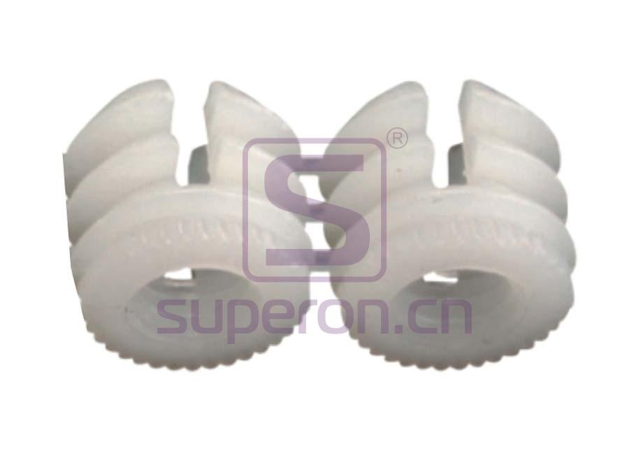 Plastic socket strip (open-ended)