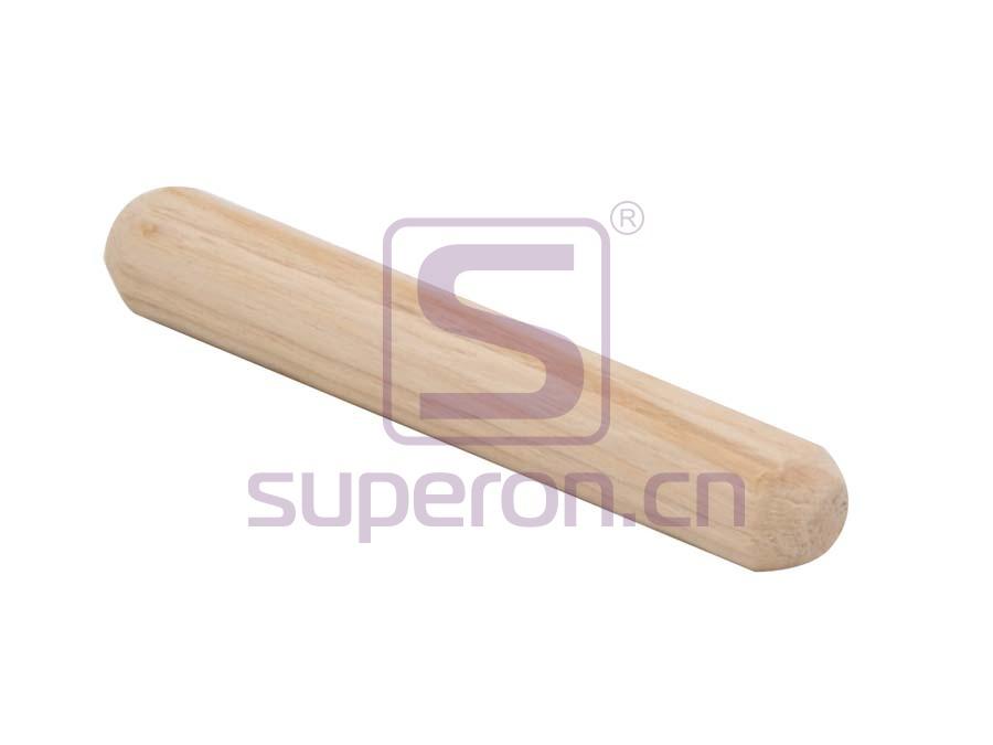 Taco de madera, ranura horizontal