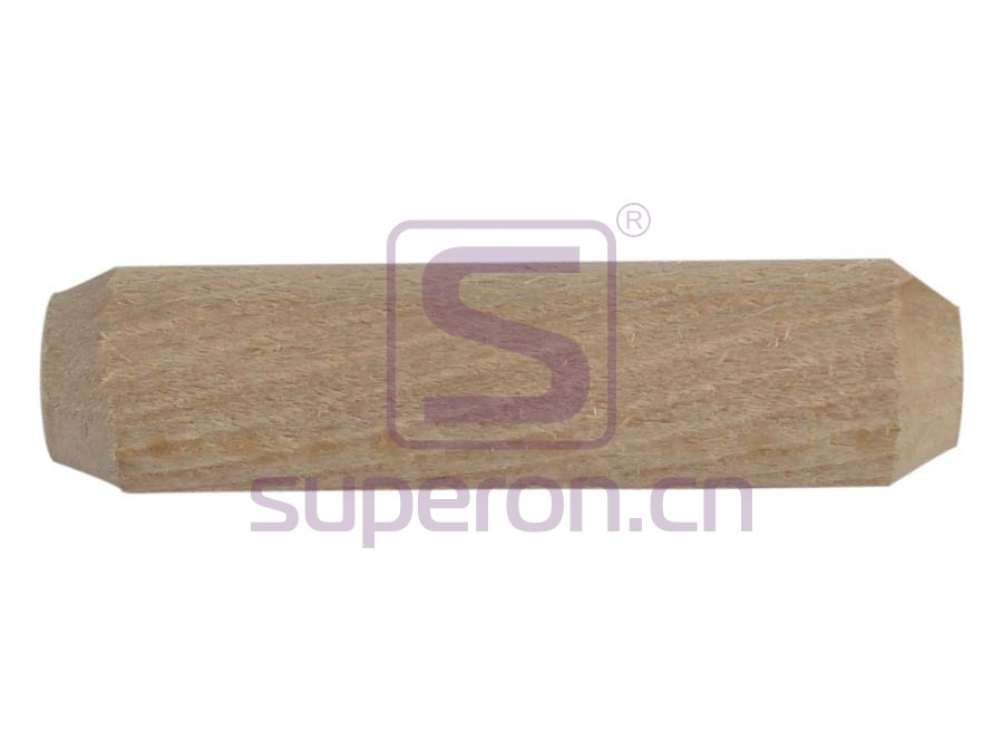 Wooden stick, diagonal grooves
