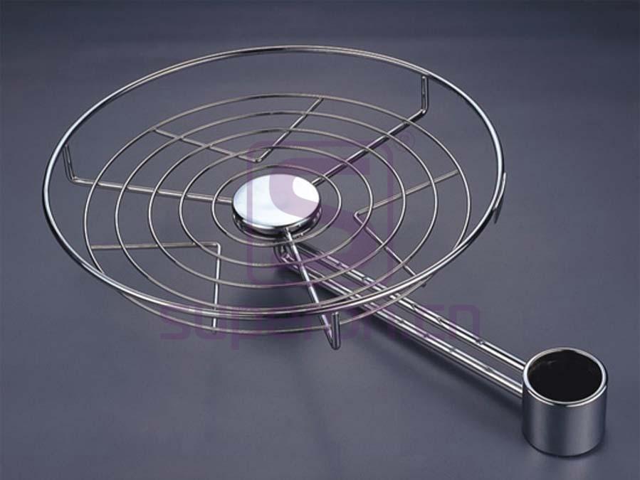 11-340   360° rotating round shelf
