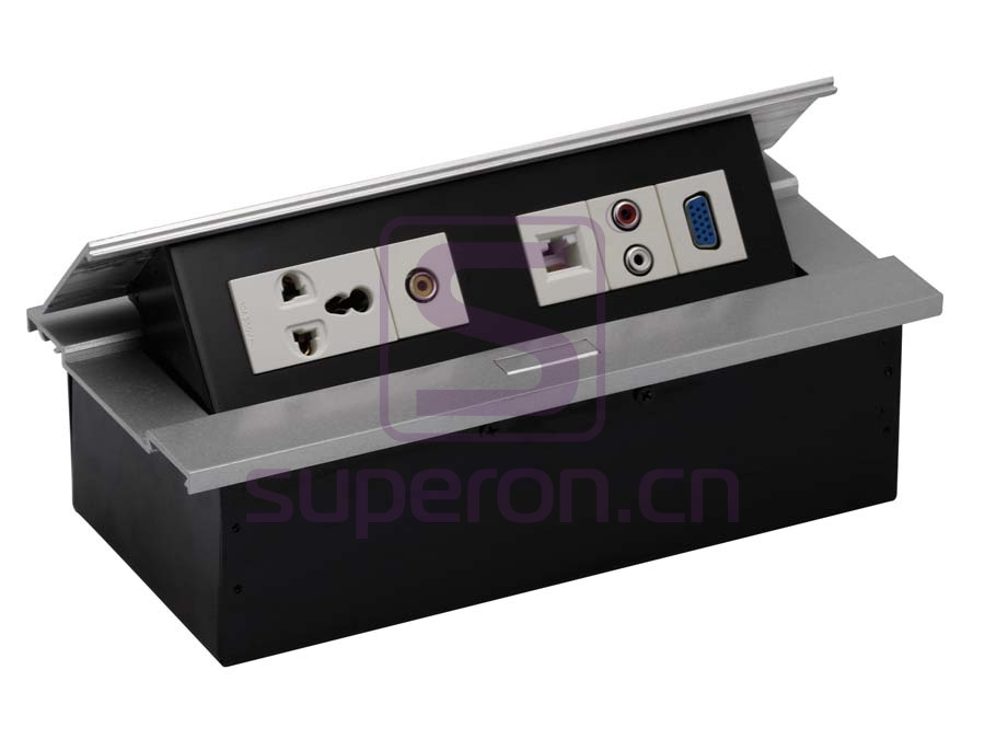 Hidden sockets block, table mount