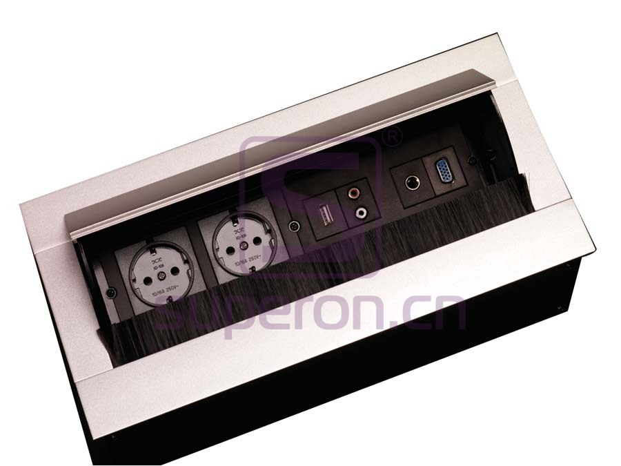 12-128 | Hidden sockets block, table mount