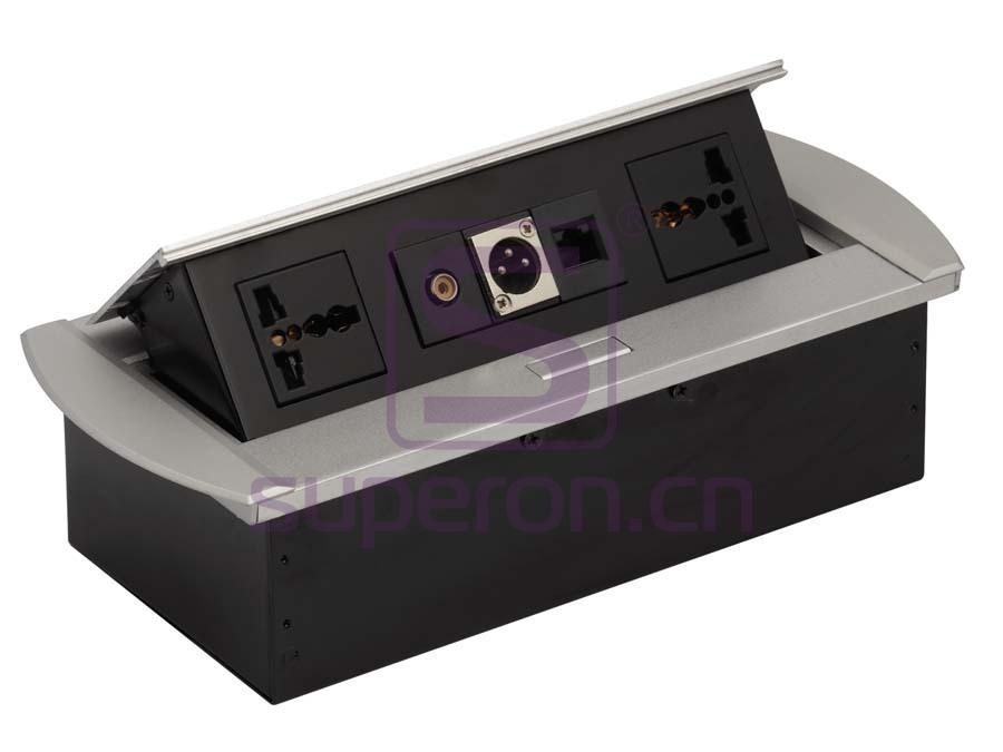 12-129 | Hidden sockets block, table mount