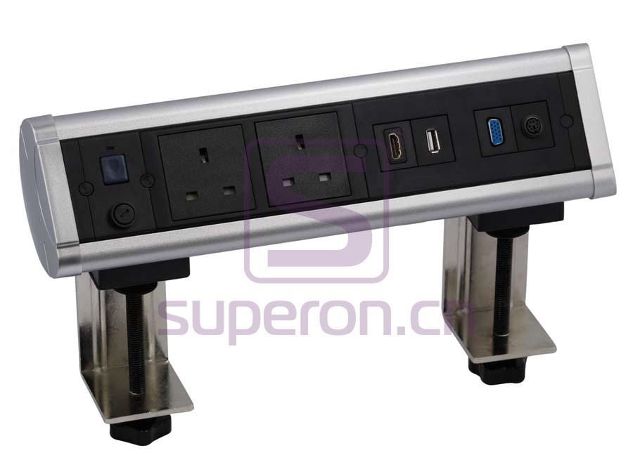 12-131 | Hidden sockets block, table mount