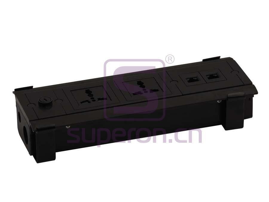 12-132 | Hidden sockets block, table mount