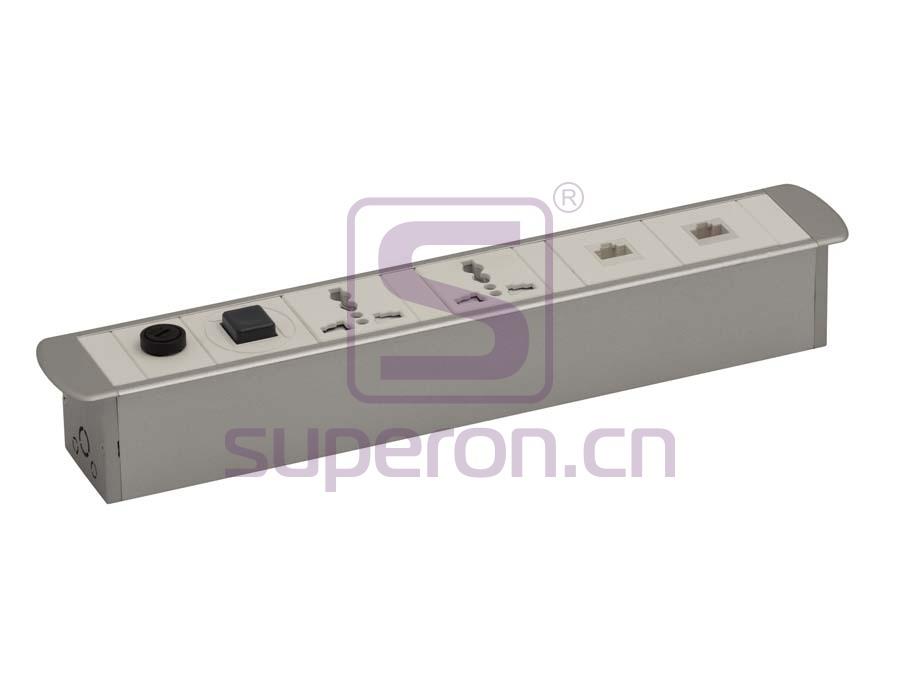 12-135   Hidden sockets block, table mount