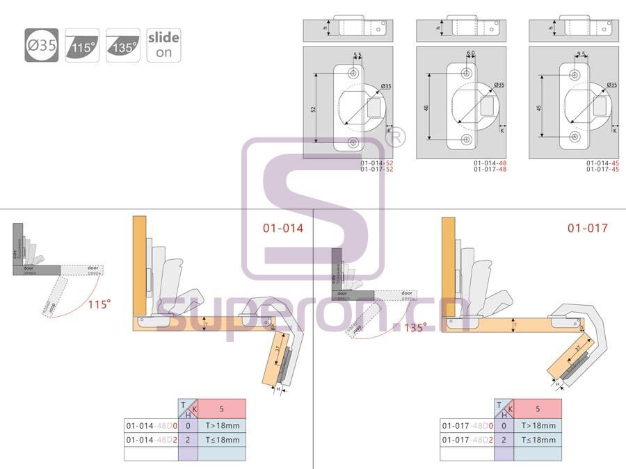 01-017-q | 135° hinge, slide-on