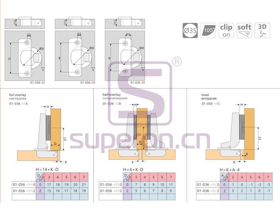 01-036-q | Soft-closing hinge 3D