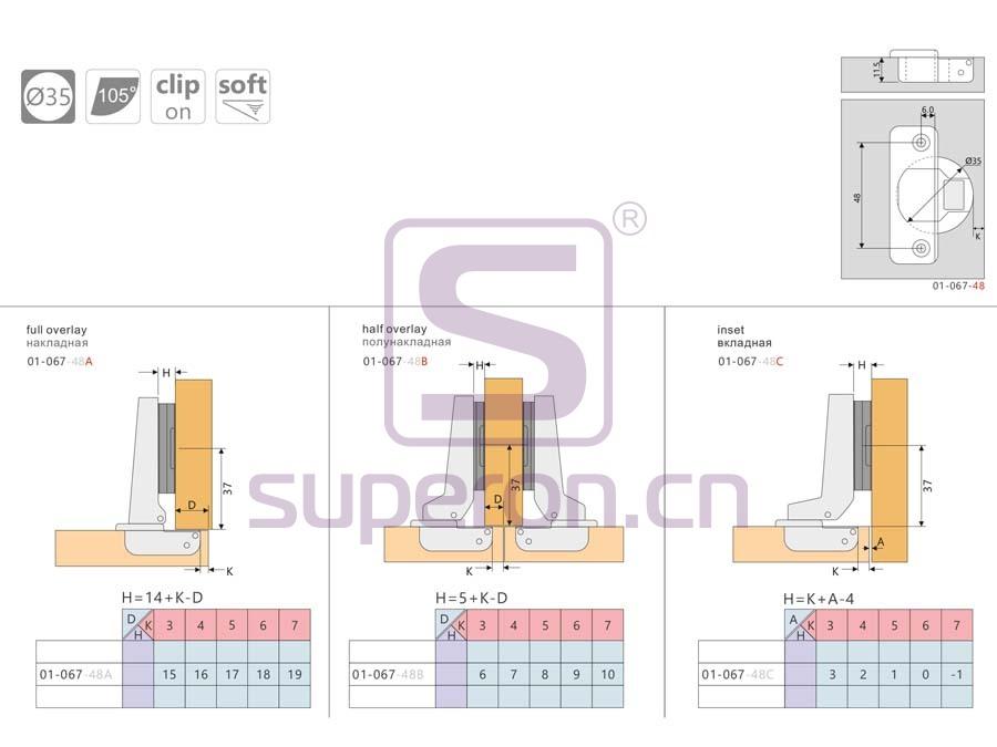 01-067-q | Soft-closing hinge