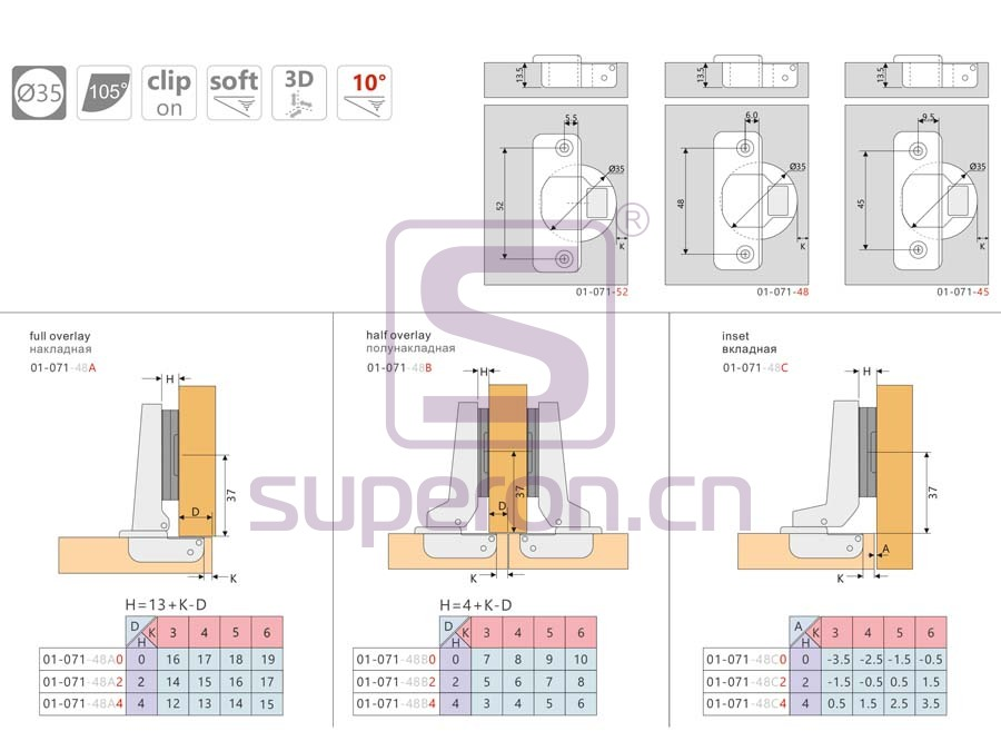 01-071-q | Soft-closing hinge, 3D