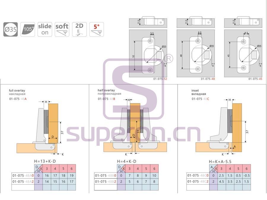 01-075-q   Soft-closing hinge, 3D