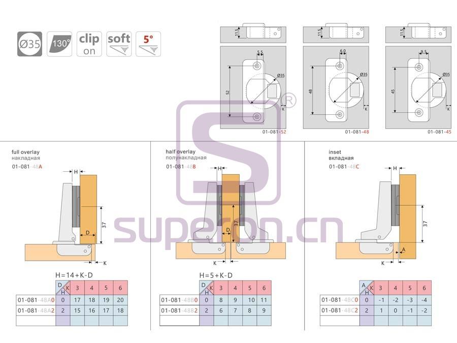 01-081-q | Soft-closing hinge