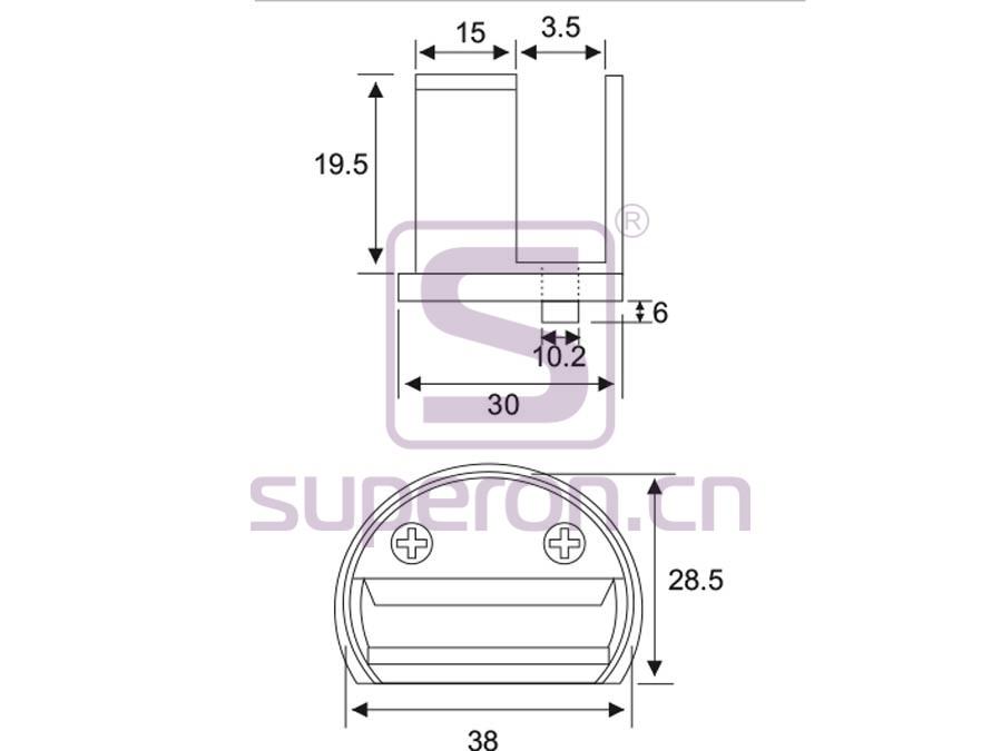01-204-q | Hinge for glass door