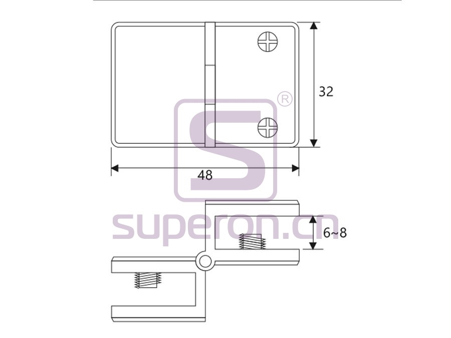 01-210-q | Hinge for glass door
