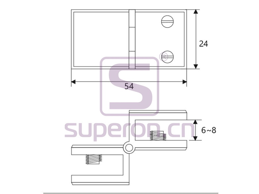 01-226-q   Hinge for glass door