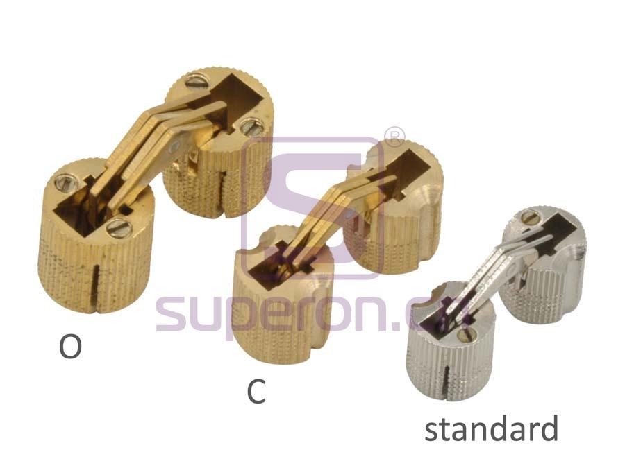 01-301-screwpositions | Hidden hinge (brass)