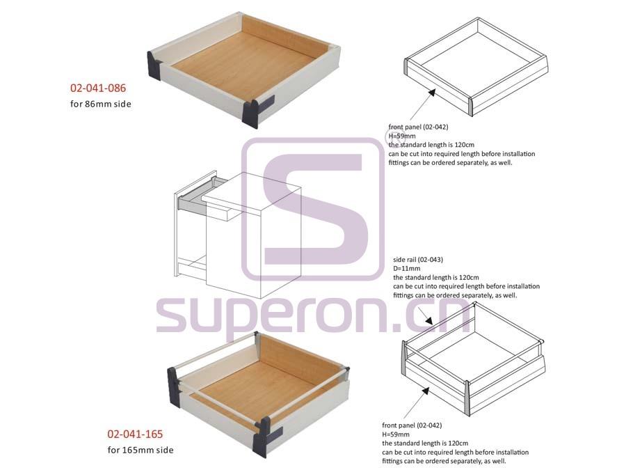 02-041-q   Inset drawer