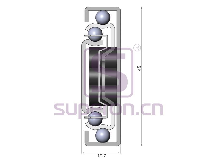 02-142-q1 | 45mm soft closing full ext.sliders