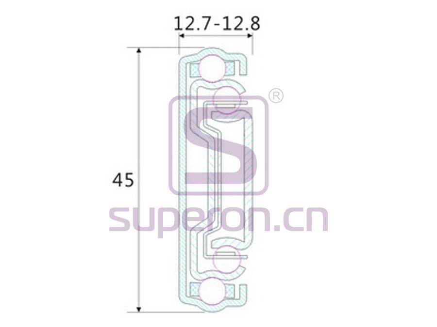 02-150-width | 45mm push-to-open sliders