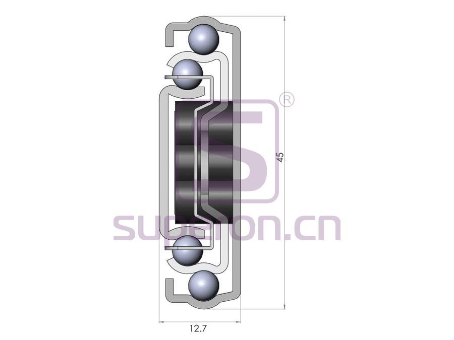 02-151-q1 | 45mm push-to-open sliders
