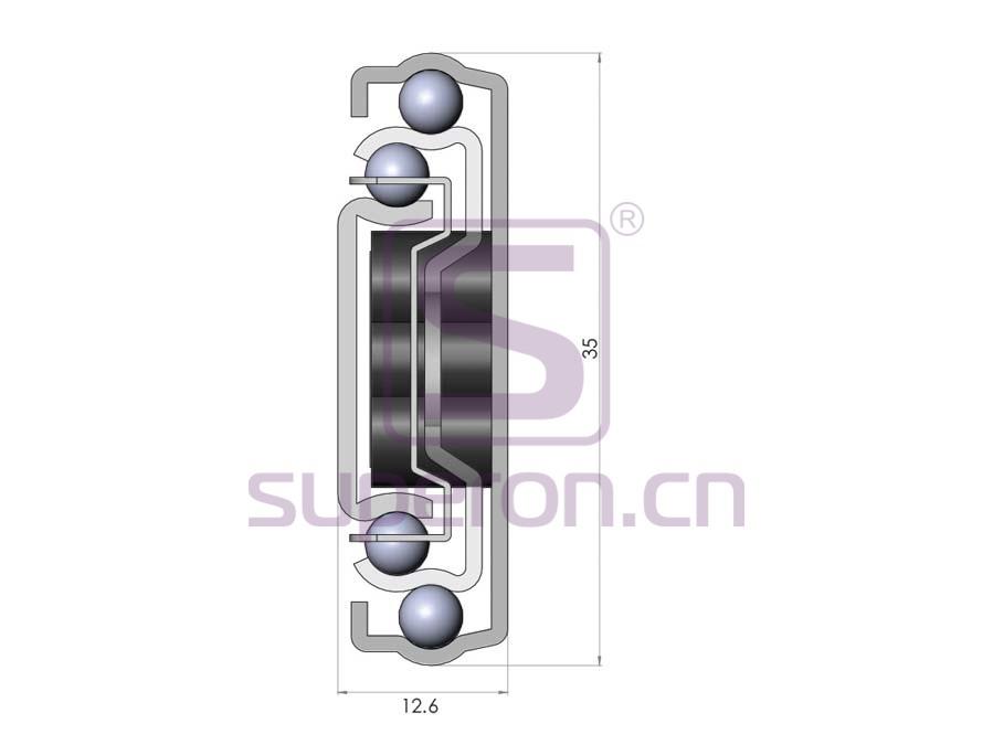 02-160-q1 | 35mm soft closing full ext.sliders