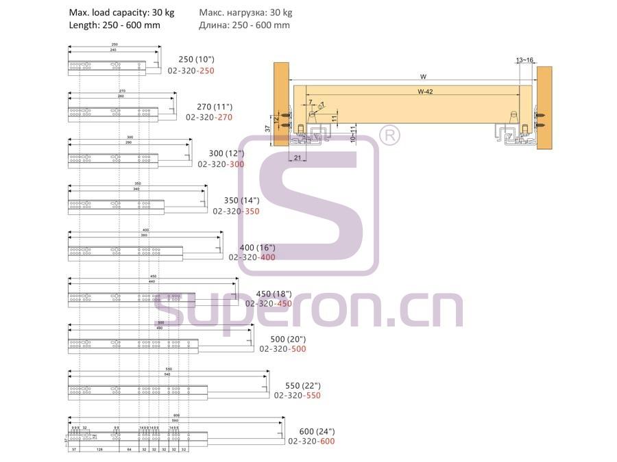 02-320-q | Full ext. soft-closing slider