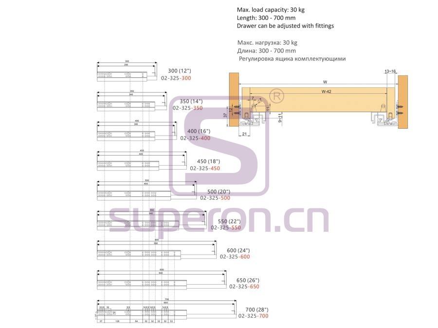 02-325-q   Full ext. soft-closing slider