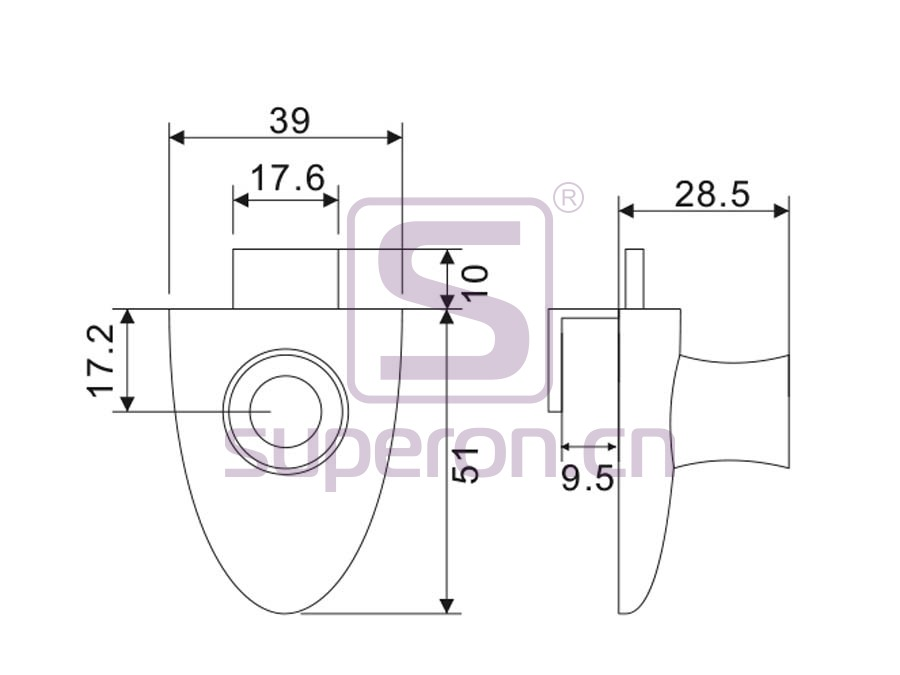03-020-q | Glass lock #406 with master key