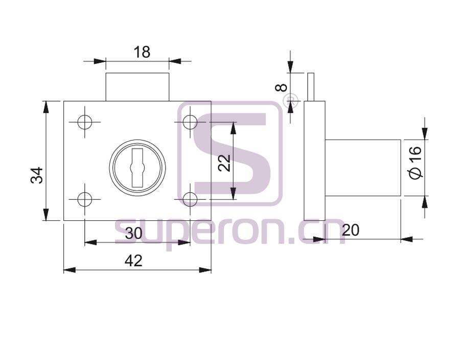 03-101-q | Furniture lock, 101