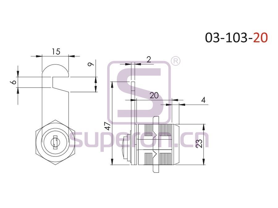 03-103-20-q | Lock, #103