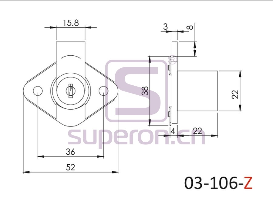 03-106-Z-q | PK, D22x22mm