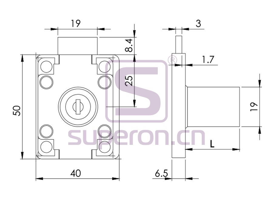 03-139-q   Drawer lock, #139