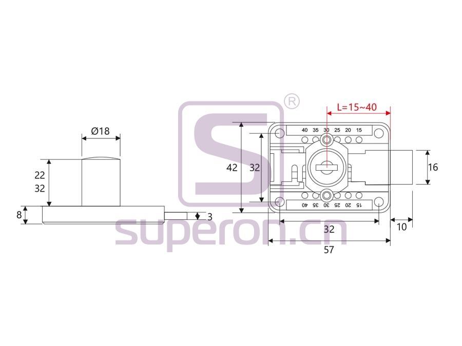 03-140-q | Drawer lock