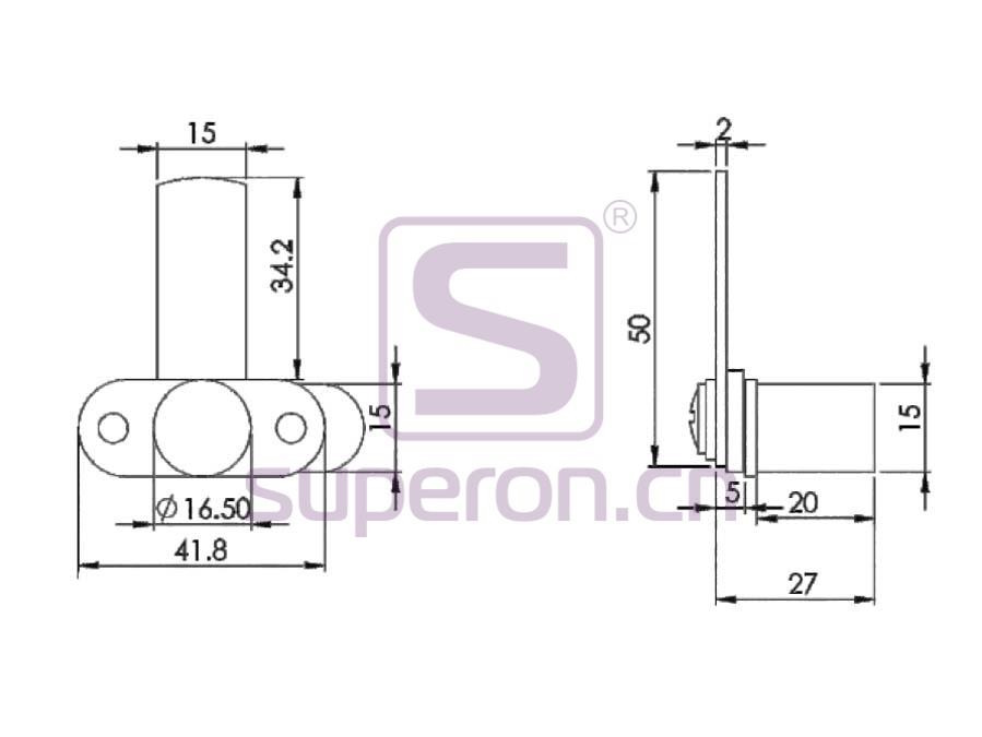03-201-q   Furniture lock, #201
