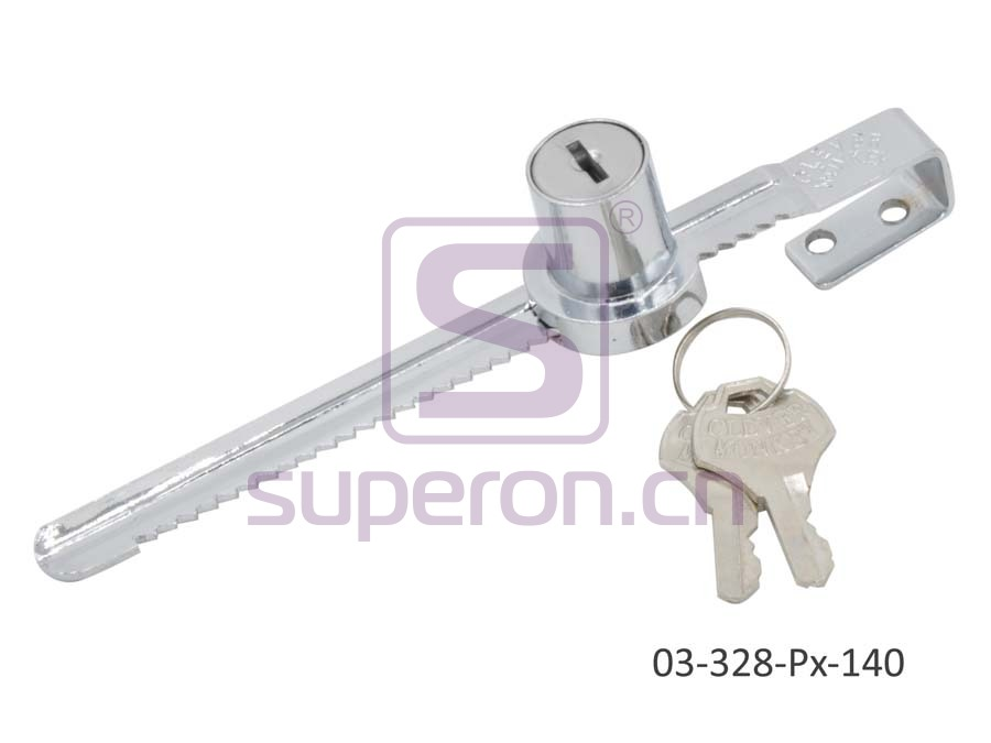 03-328-Px-140 | Lock for glass furniture, #328